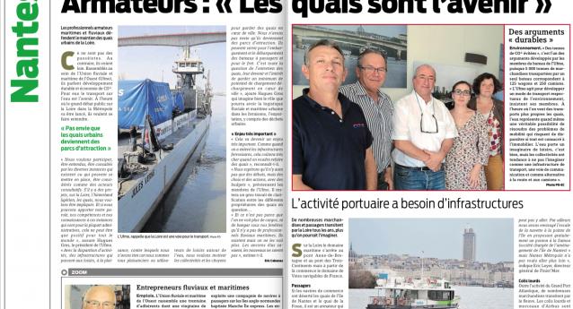 Pour les armateurs de l'Ufmo : «Les quais de la Loire sont l'avenir».