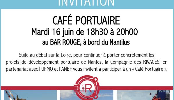 Café portuaire le mardi 16 juin de 18h30 à 20h00 au BAR ROUGE