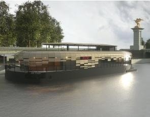 FLOW : Bâtiment flottant (marché privé) - Paris (75) - Salle de spectacle / Restaurant - en fin de construction